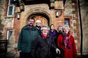 Appeal: Friends of Abingdon, from left, Roger Thomas, Bobbie Thomas, Judy White, Hester Hand, Lesley Legge and Jackie Smith are appealing for help to buy Old Abbey House