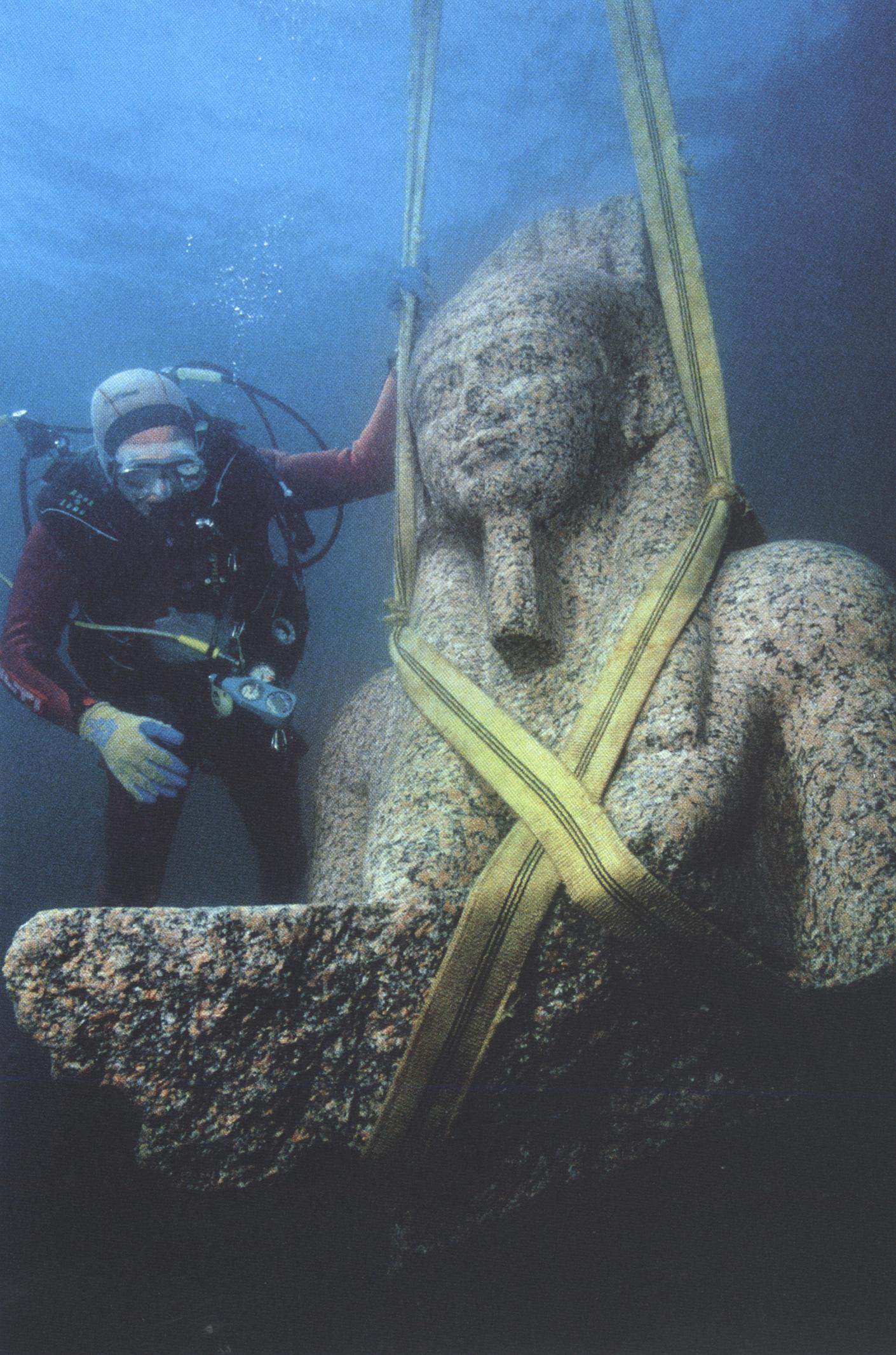 Treasures and sights from the sunken city of Heracleion off the coast of Egypt