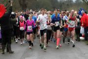 The runners set off on the five-mile course around Blenheim Palace.  Picture: Damian Halliwell