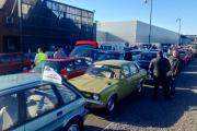 And they're off! More than 100 classic cars leave the Mini plant in Cowley for Longbridge Rally
