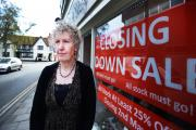 Closing: Judith Knight pictured outside The Shoe Shop of Abingdon