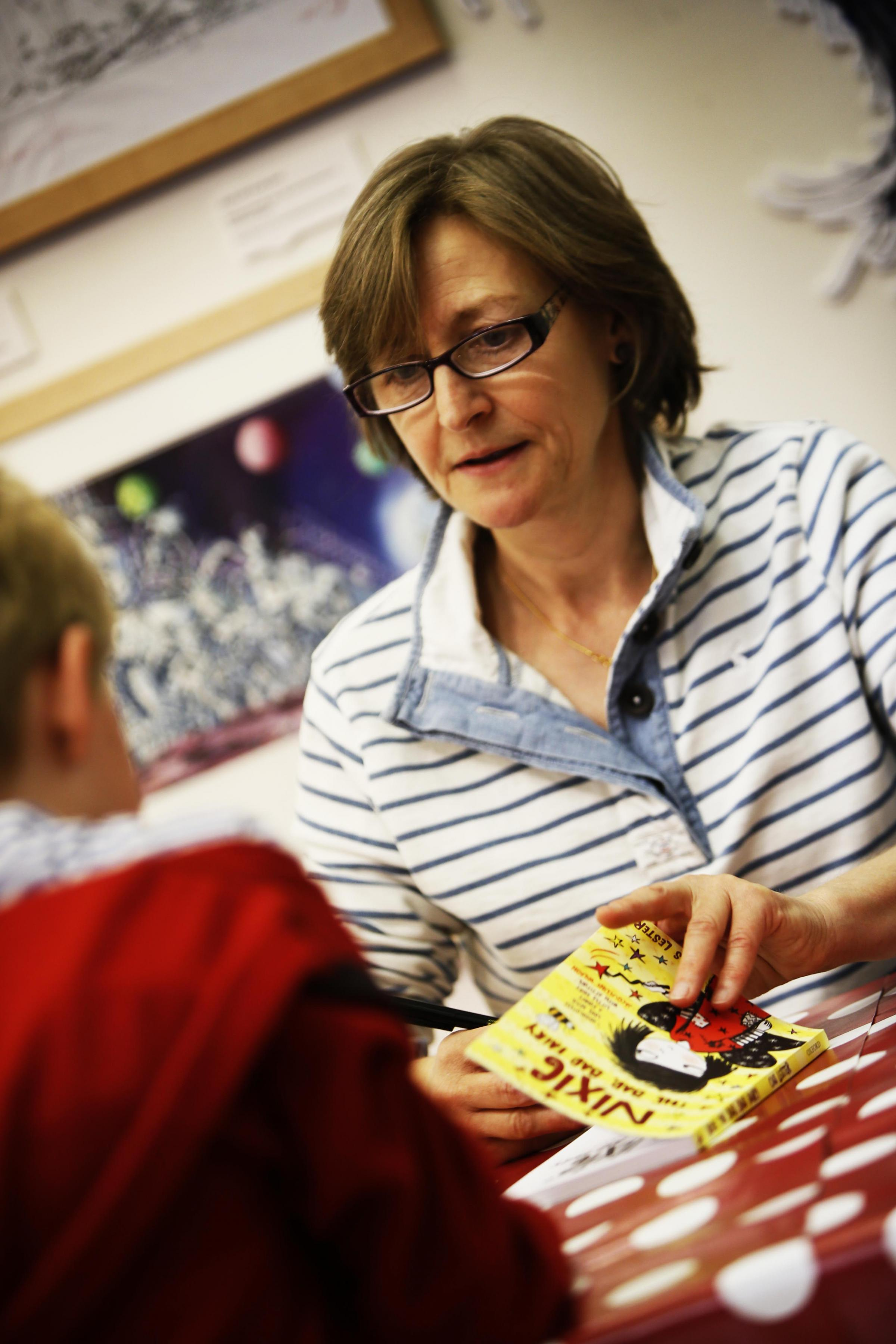 Children's author meets pupils
