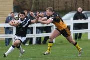 Andrew Hoggins scored Oxford RL's first try against Rochdale Hornets