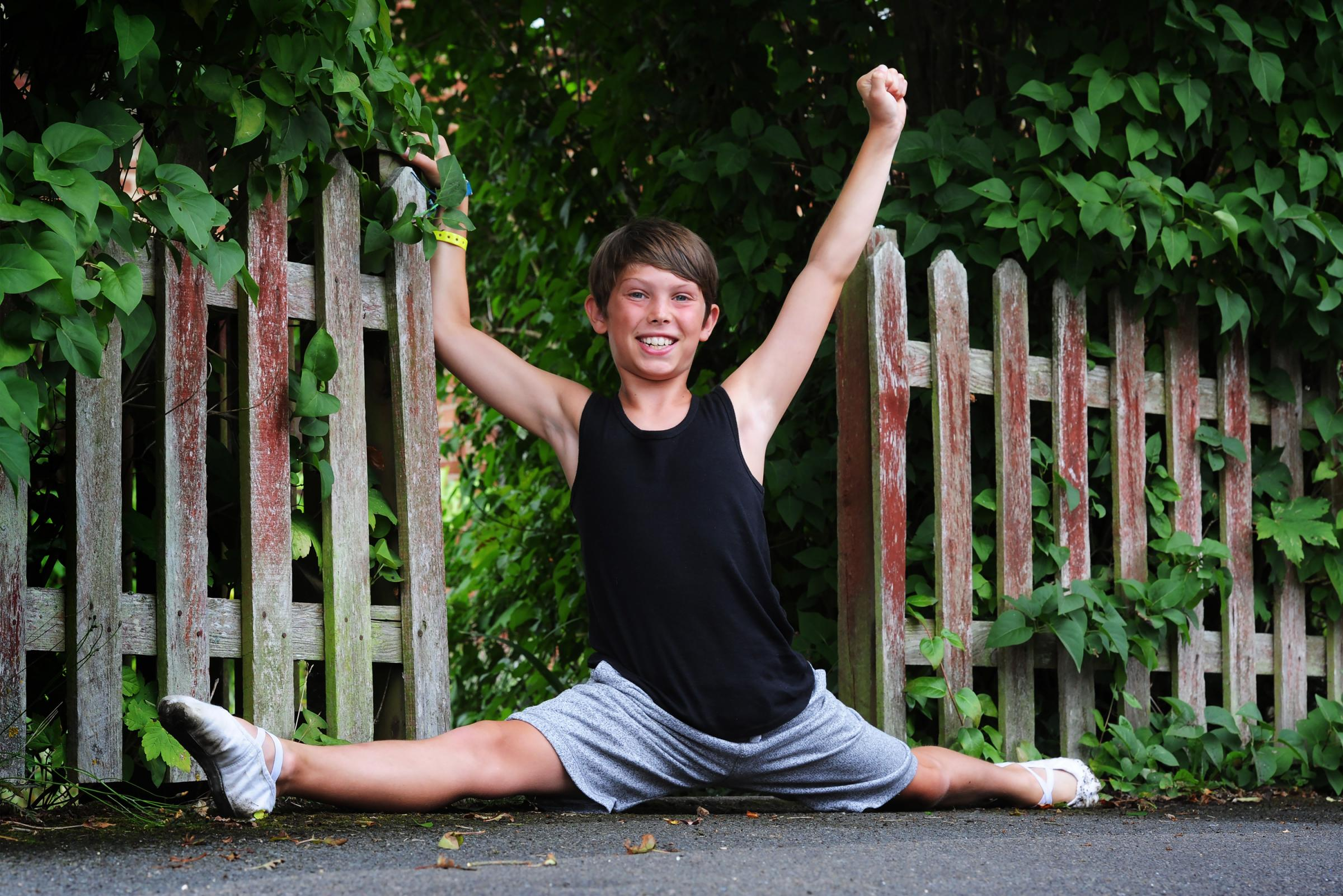 Class act: Ronnie Bates, 11, has won a scholarship to Elmhurst Ballet School in Birmingham