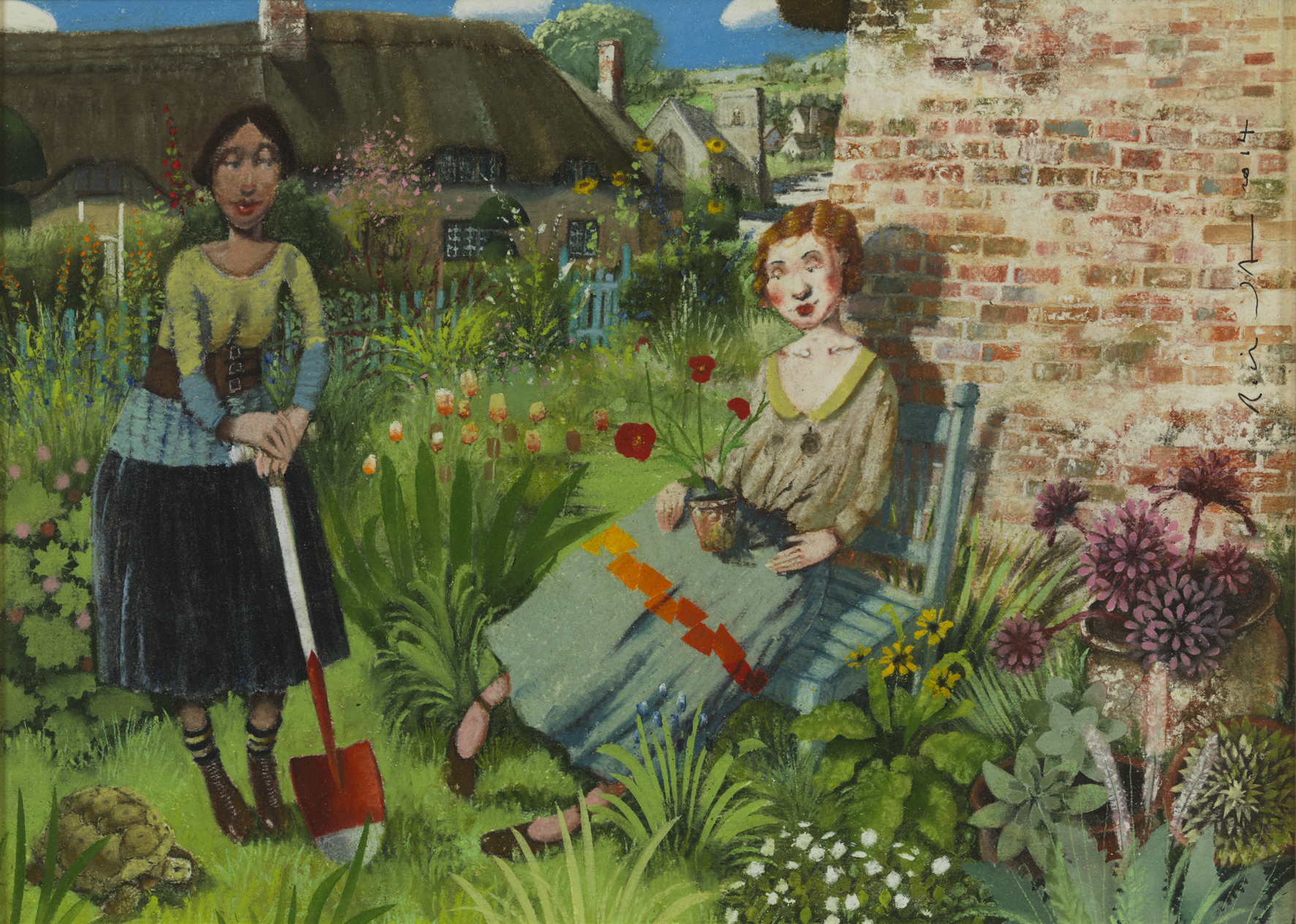 Richard Adams' Sunny Wall, varnished pastel, 30cm x 42 cm, £1,950