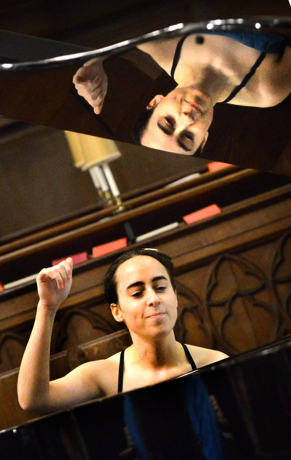 Double time: Marianna Kapsetaki performs a free concert at St Michael at the Northgate church