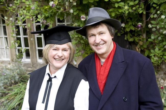 Adrian Noble and wife Joanne Pearce pictured in 2008