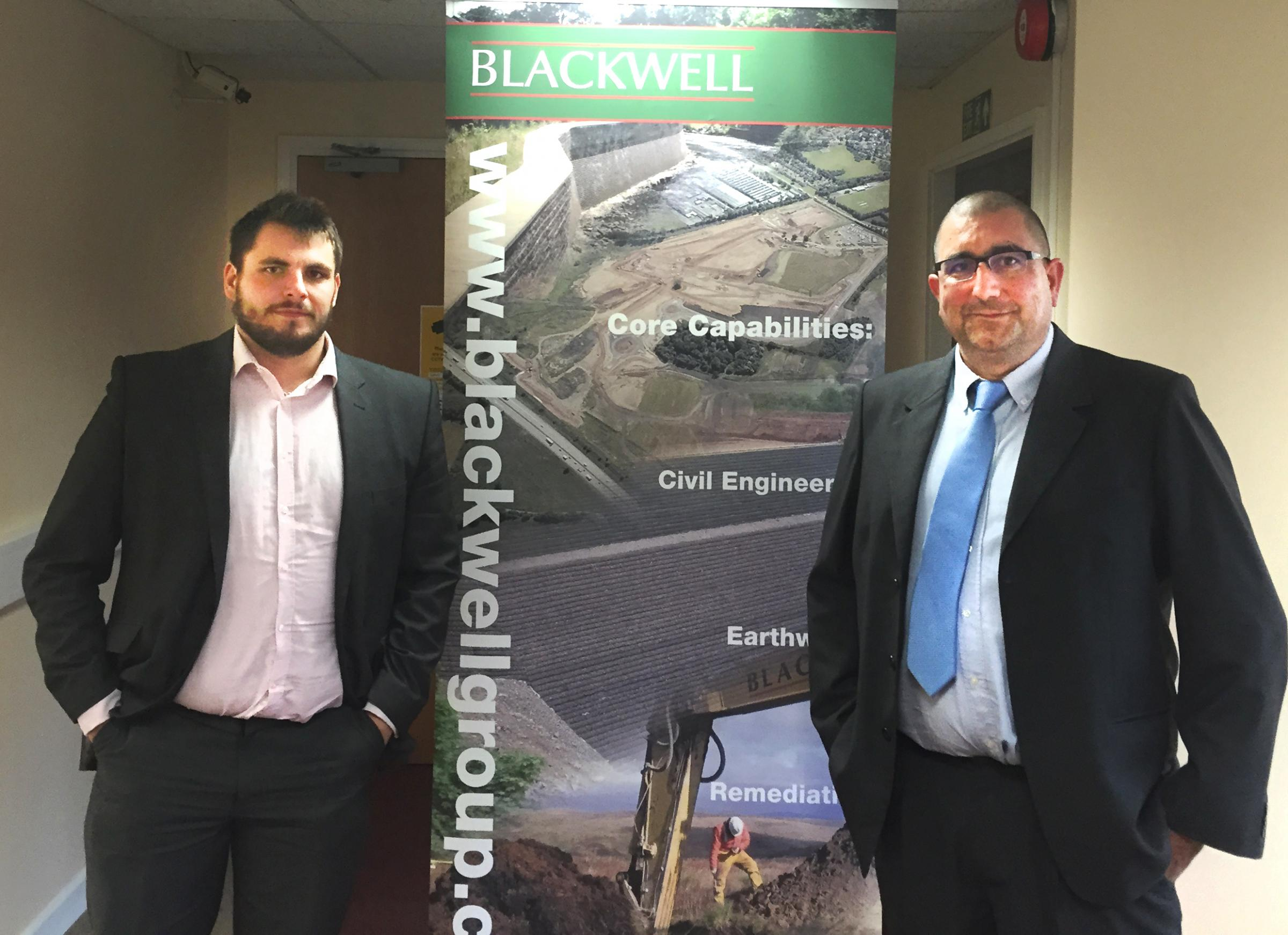 Contracts: Justin Downer and Gavin Chandler, of contractor CA Blackwell