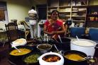 AthisVadivale preparing one of her famous south Indian feasts