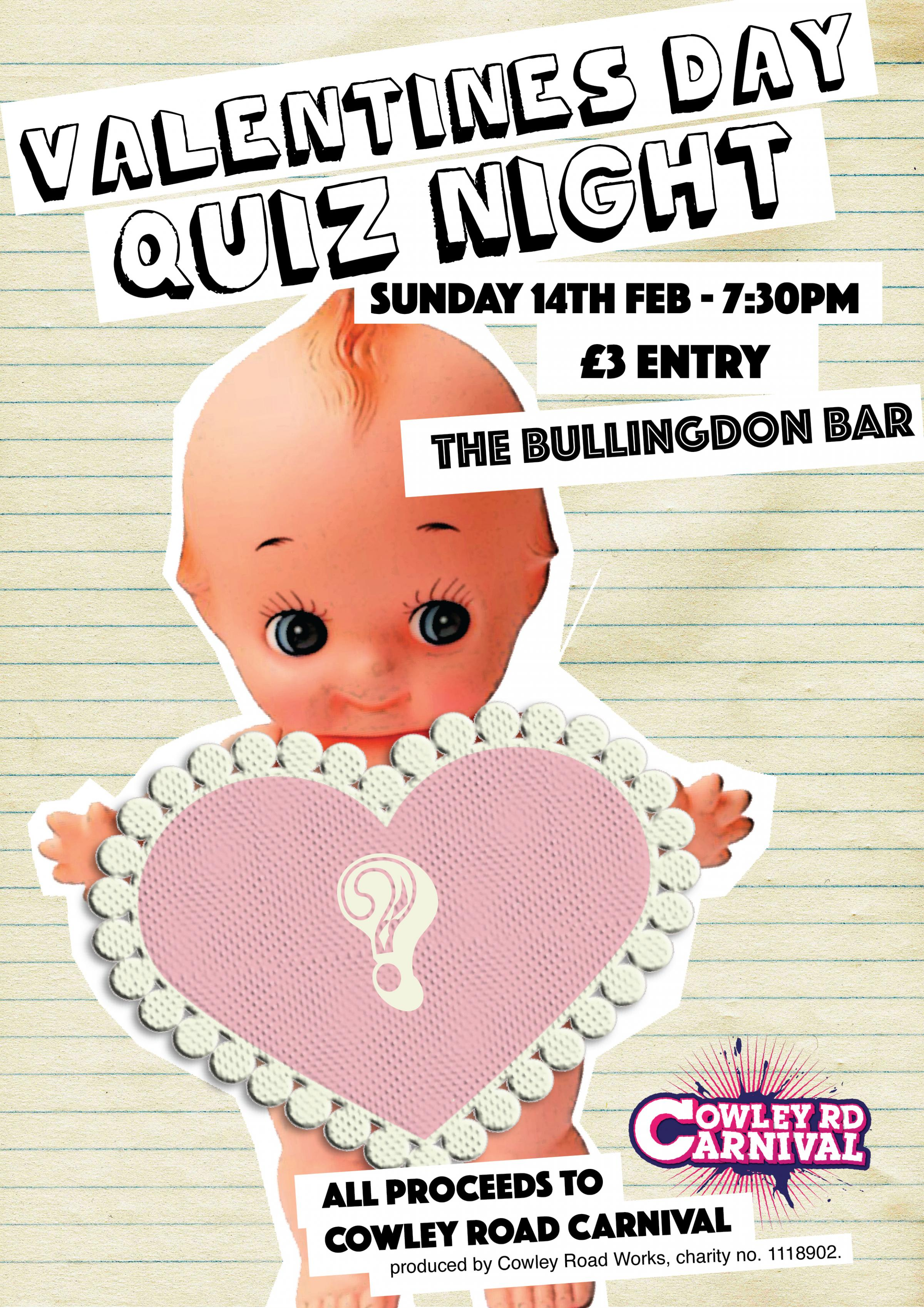 Valentines Quiz Night in aid of Cowley Road Carnival
