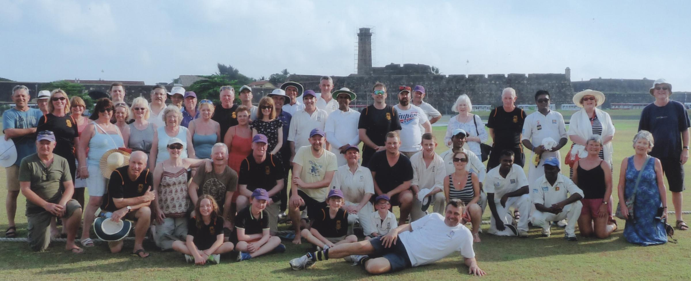 South Oxfordshire Amateurs tourists pictured in front of the famous Fort on the Galle Test ground in Sri Lanka