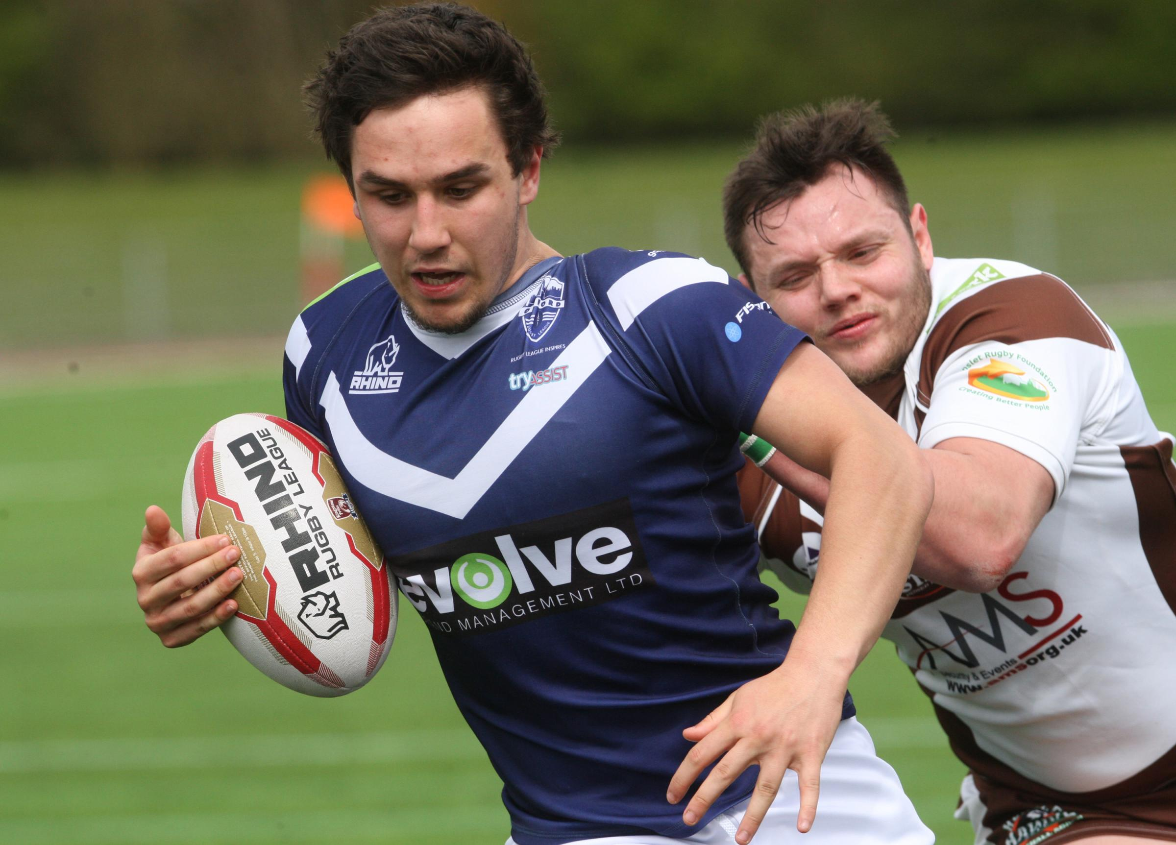 Tom Holmes scored a try in Oxford RL's 54-8 defeat at Toulouse Olympique