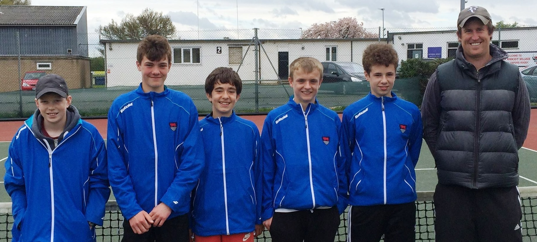 Oxfordshire's under 14 boys. From left: Will Taylor, Ollie Broadhurst, Gabriel Curreli, George Slater, Connor Ferguson and Dave Tuck (captain)