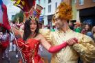 Revellers at Cowley Road Carnival