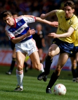 The Oxford Times: HEROES RETURN: John Aldridge, pictured at Wembley during United's Milk Cup triumph, is due to play for the U's again