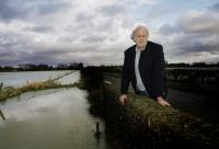 The Oxford Times: Farmer John Hook with flooded fields at Cote, near Bampton