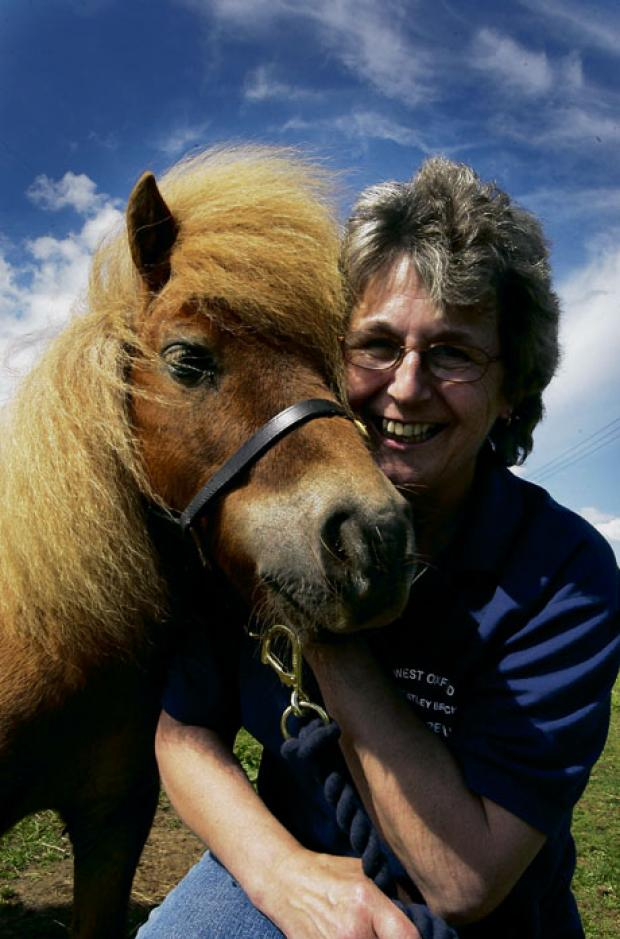 Julie Jones with Barley the Shetland pony