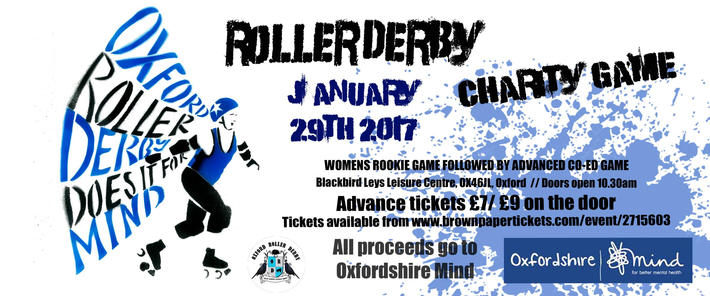 Oxford roller derby charity game for Mind