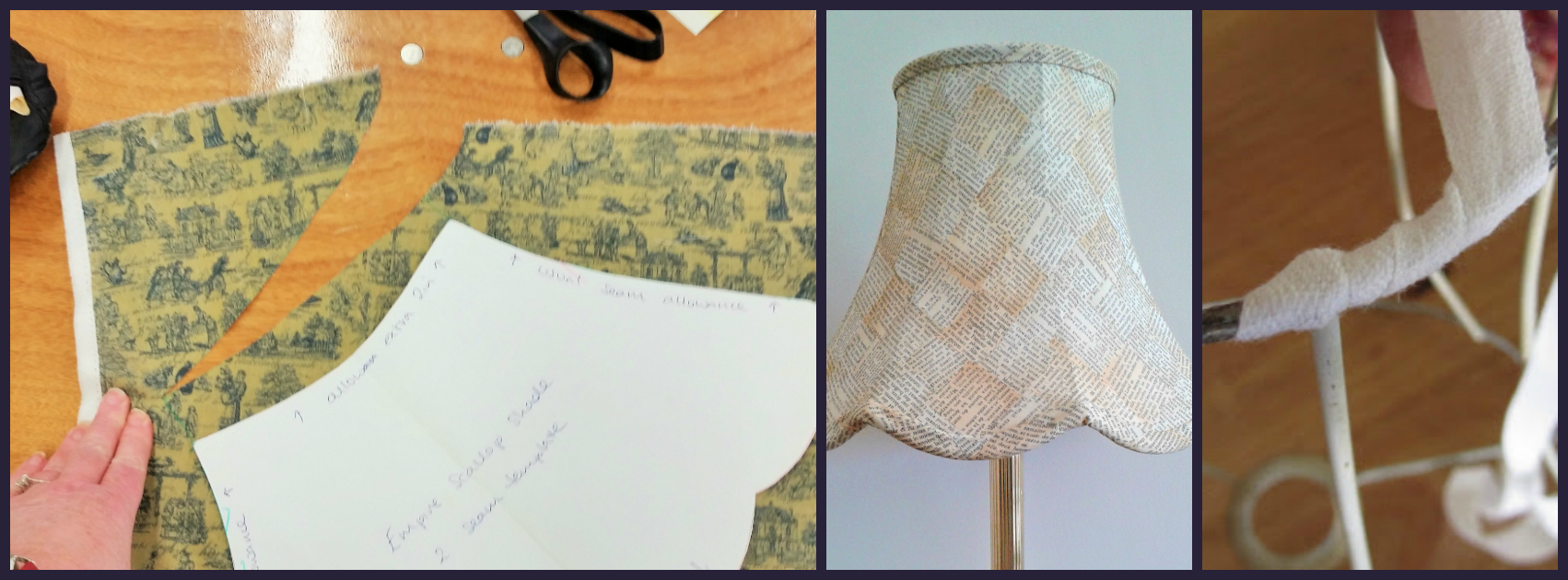 Hand Stitched Traditional Lampshade