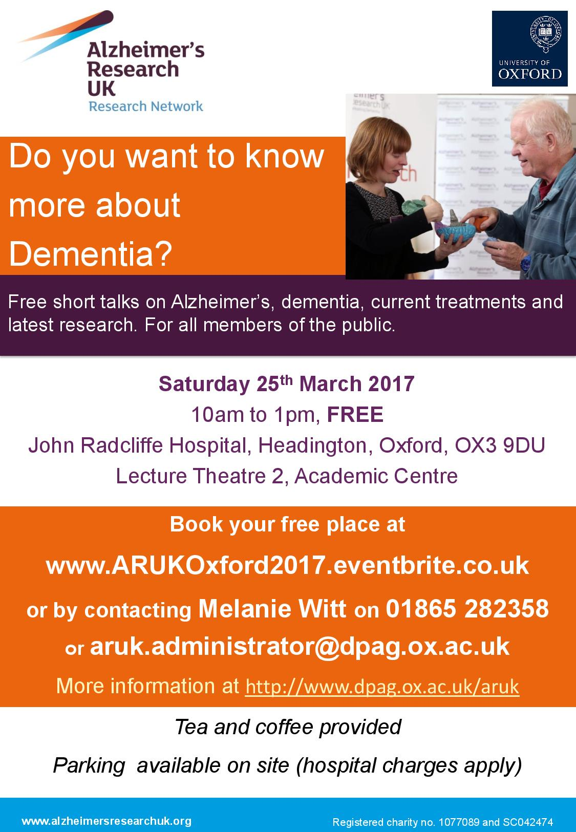 ARUK Oxford Dementia Information Morning