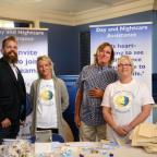 The Oxford Times: Staff from Day and Nightcare Assistance at The Oxford Times Jobs Fair at Oxford Town Hall in September last year. From left John Maloney Jnr, Rachel Linford, John Maloney Snr and Annie Miles. Picture Richard Cave