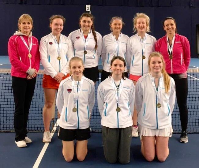 SUCCESS: Oxfordshire's U18 girls. Back (from left): Lorrayne Gracie (coach), Annabelle Denly, Taysie Gujral, Raia Jagger, Alice Wilkinson, Ariadne Katsoulis. Front: Chloe Elliot, Kyla Haslett-Hawkins, Evie Phillips