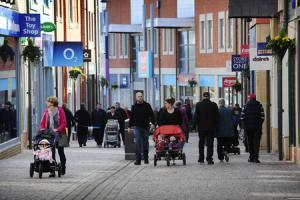 Another normal day in Didcot: average folk go shopping at the town's Orchard Centre. Picture: David Fleming.