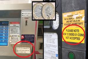 Pound coin problems - station machine doesn't accept £1 or £5
