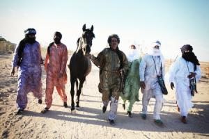 Desert men: Tinariwen at home in the Sahara. Picture by Marie Planeille