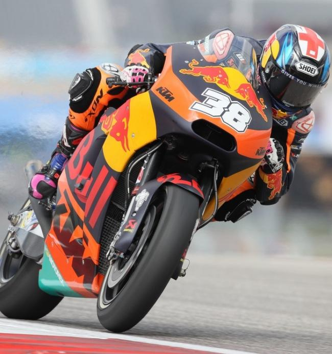 FULL THROTTLE: Bradley Smith in action at the Circuit of the Americas Picture: Gold and Goose