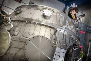 Tokamak ST40 reactor, Britain's newest fusion reactor, has been fired up and taken the UK one step further towards generating electricity from the power of the stars. Picture: Damian Halliwell/Tokamak Energy/PA Wire