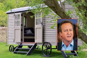 David Cameron has battle on his hands for control of luxury shepherd's hut