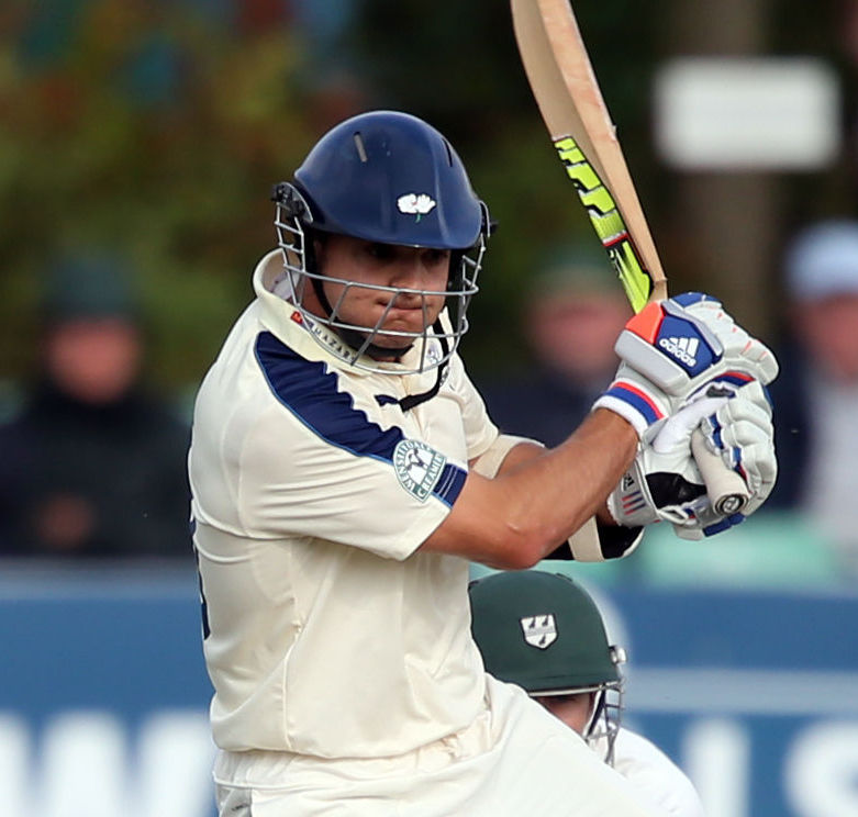 ON THE ATTACK: Jack Brooks hit five sixes in his maiden first-class century.          Picture: PA