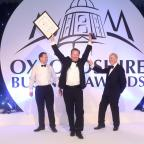 The Oxford Times: Mike Hawkins collects The Darke and Taylor Business of the Year award.