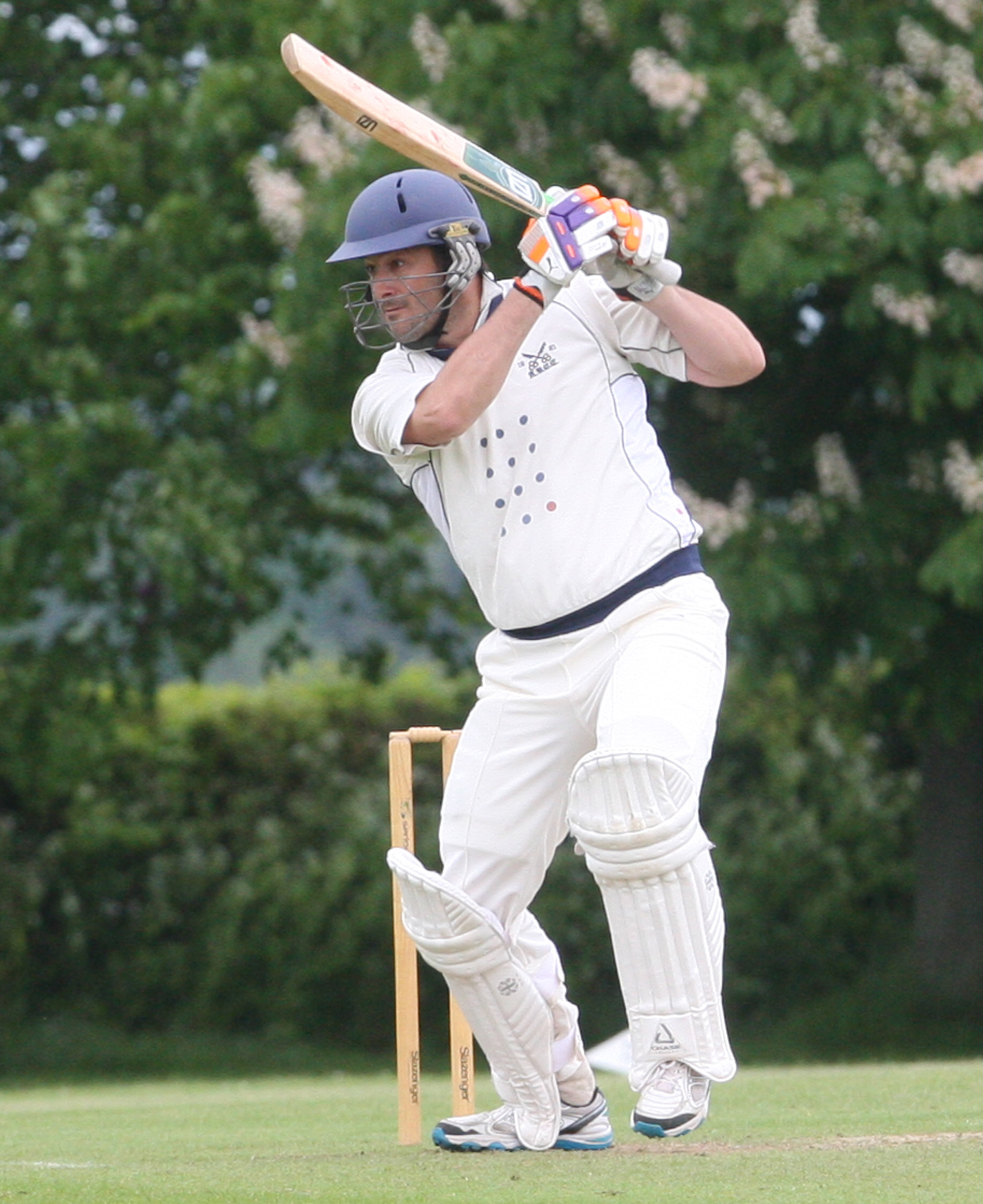 CENTURY: Aston Rowant's Chris Eaton hit an unbeaten 104 but saw his side beaten by Abingdon Vale