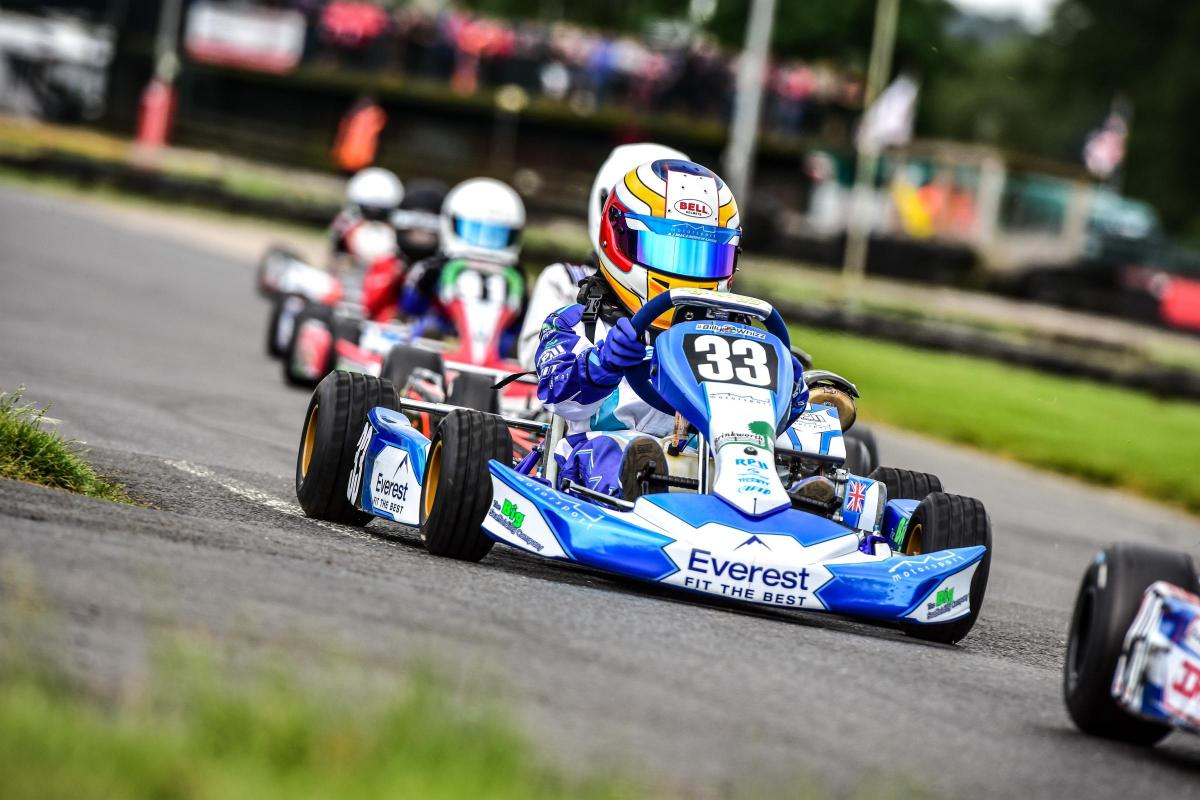 Future champion? Karting kid Aston MacAndrew-Uren follows in ...