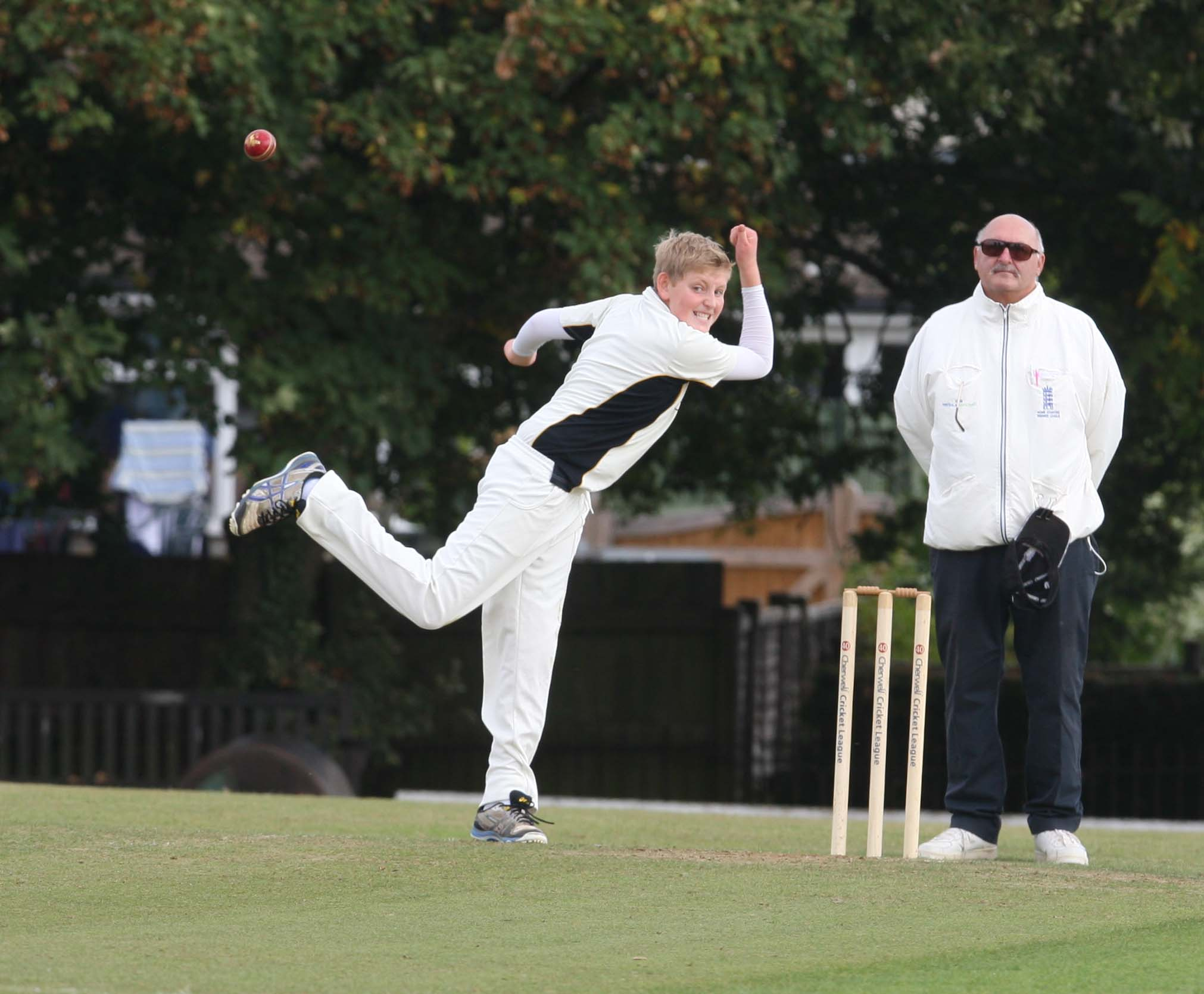 FINE DEBUT: Oxfordshire off-spinner Max Mannering bowled tidily in Wiltshire's second innings
