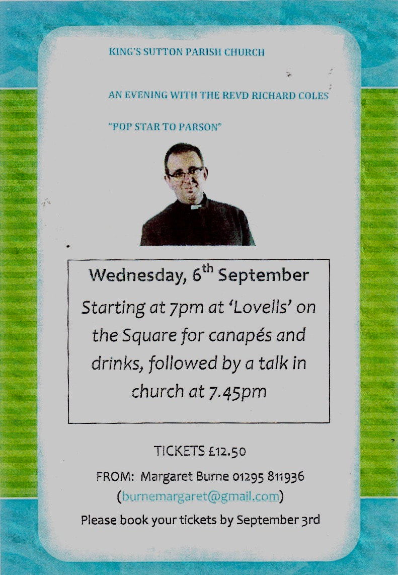 An Evening with The Revd. Richard Coles