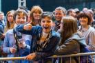 Thumbs up: Young fans at Insomnia at the NEC