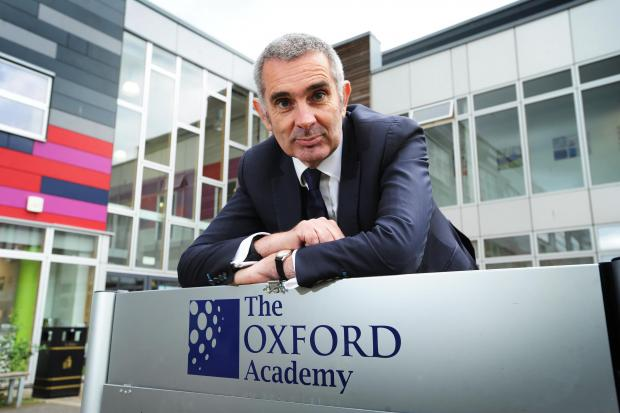 The Oxford Times: Headteacher Niall McWilliams of The Oxford Academy. Pic by Jon Lewis