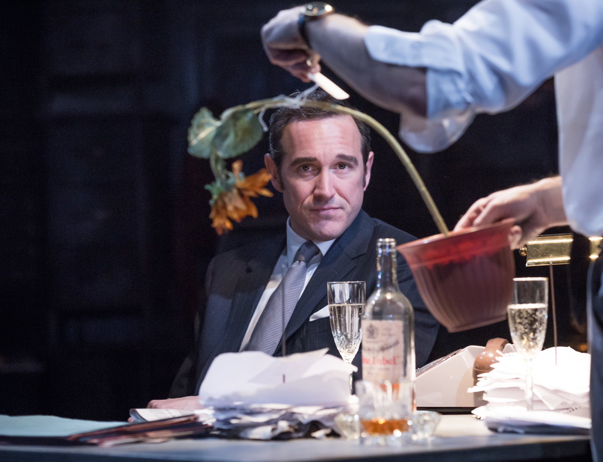Bertie Carvel as newspaper magnate Rupert Murdoch in the new play Ink                    Picture: Marc Brenner