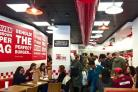 The heaving premises of Five Guys Oxford which opened recently to great acclaim