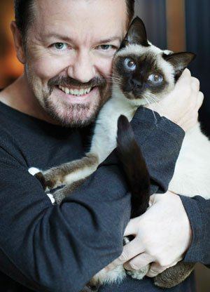 Ricky Gervais's cat gets her paws on a Bicester Advertiser