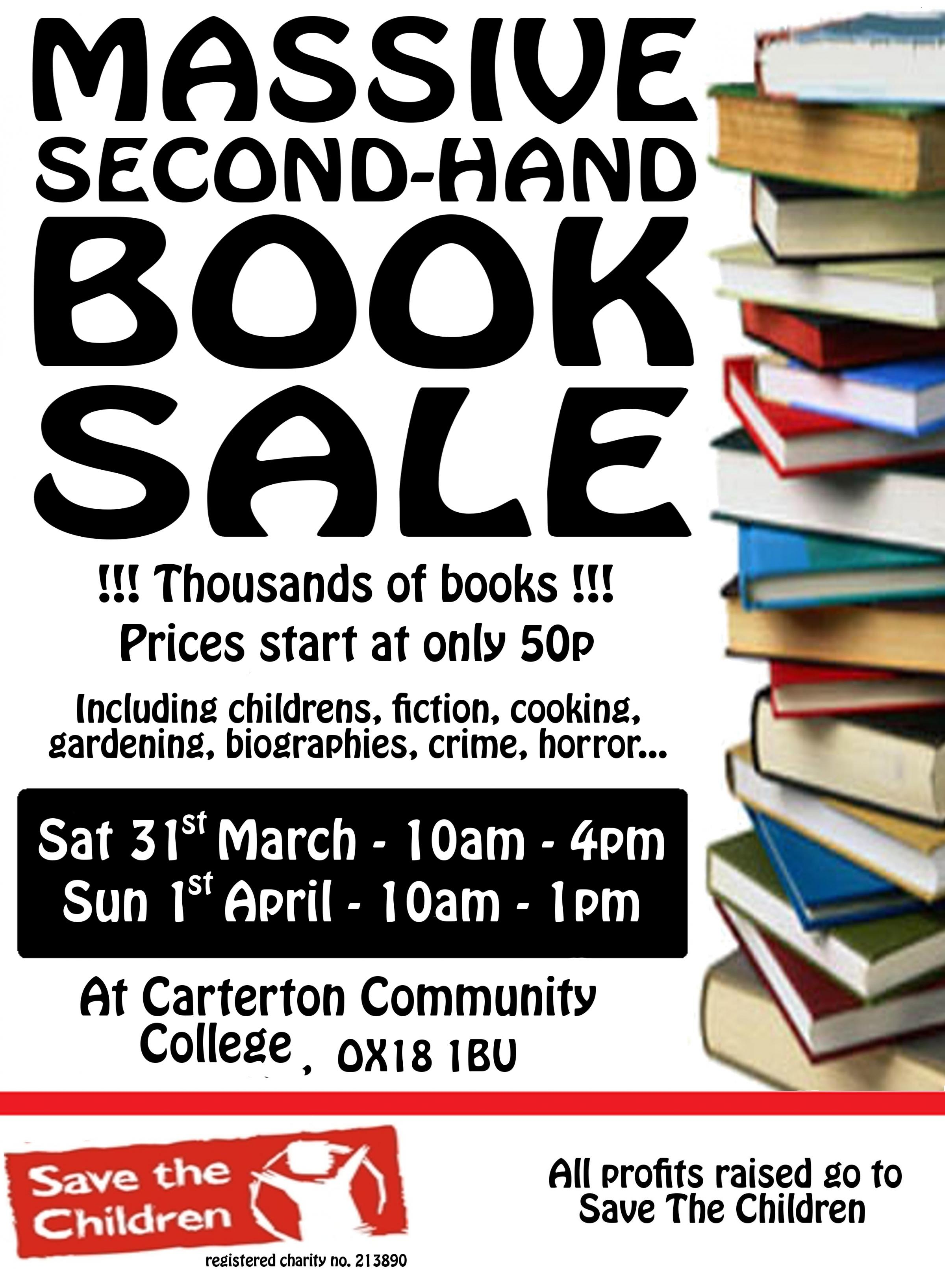 Massive Second Hand Book Sale