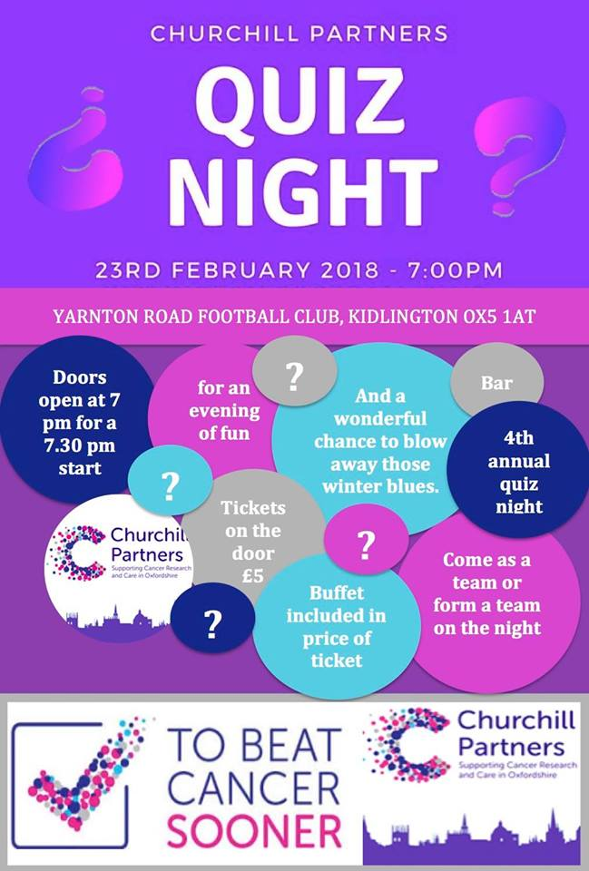 Oxford Churchill Partners 4th Annual Quiz night in aid of CRUK