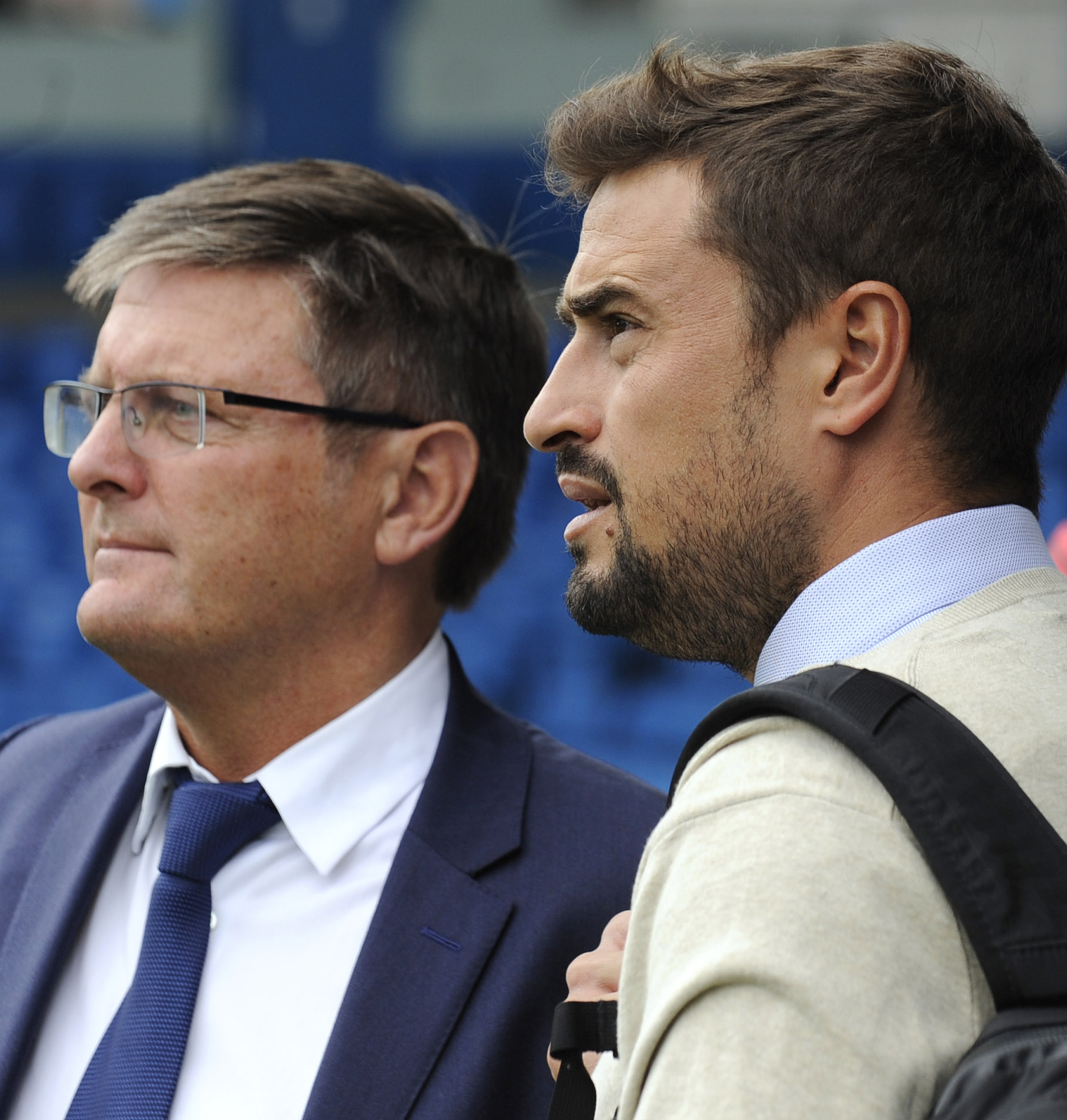 SEARCH IS ON: Oxford United chairman Darryl Eales with former boss Pep Clotet