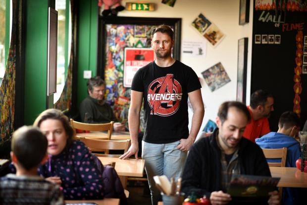 The Oxford Times: Liam Wain, manager of Atomic Burger. Picture by Richard Cave.