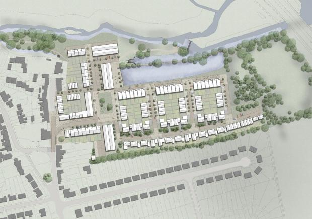 The Oxford Times: CGI of the 190 homes proposed at the Wolvercote Paper Mill, Picture: Cala Homes