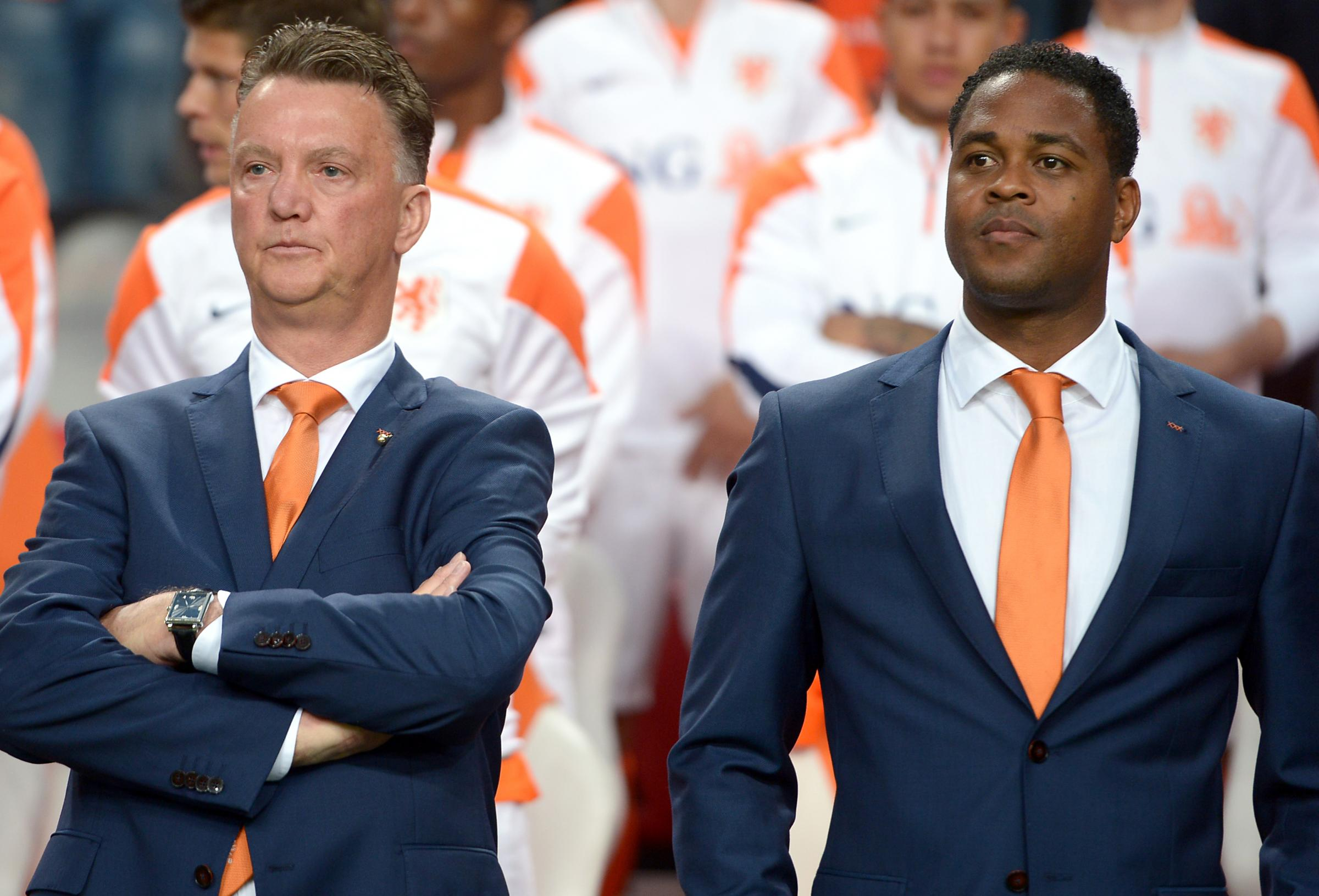 FRONT-RUNNER: Patrick Kluivert, right, pictured when assistant manager of the Netherlands with Louis van Gaal, is vying for favouritism with bookmakers to become the new Oxford United bossPicture: PA Wire/Press Association Images