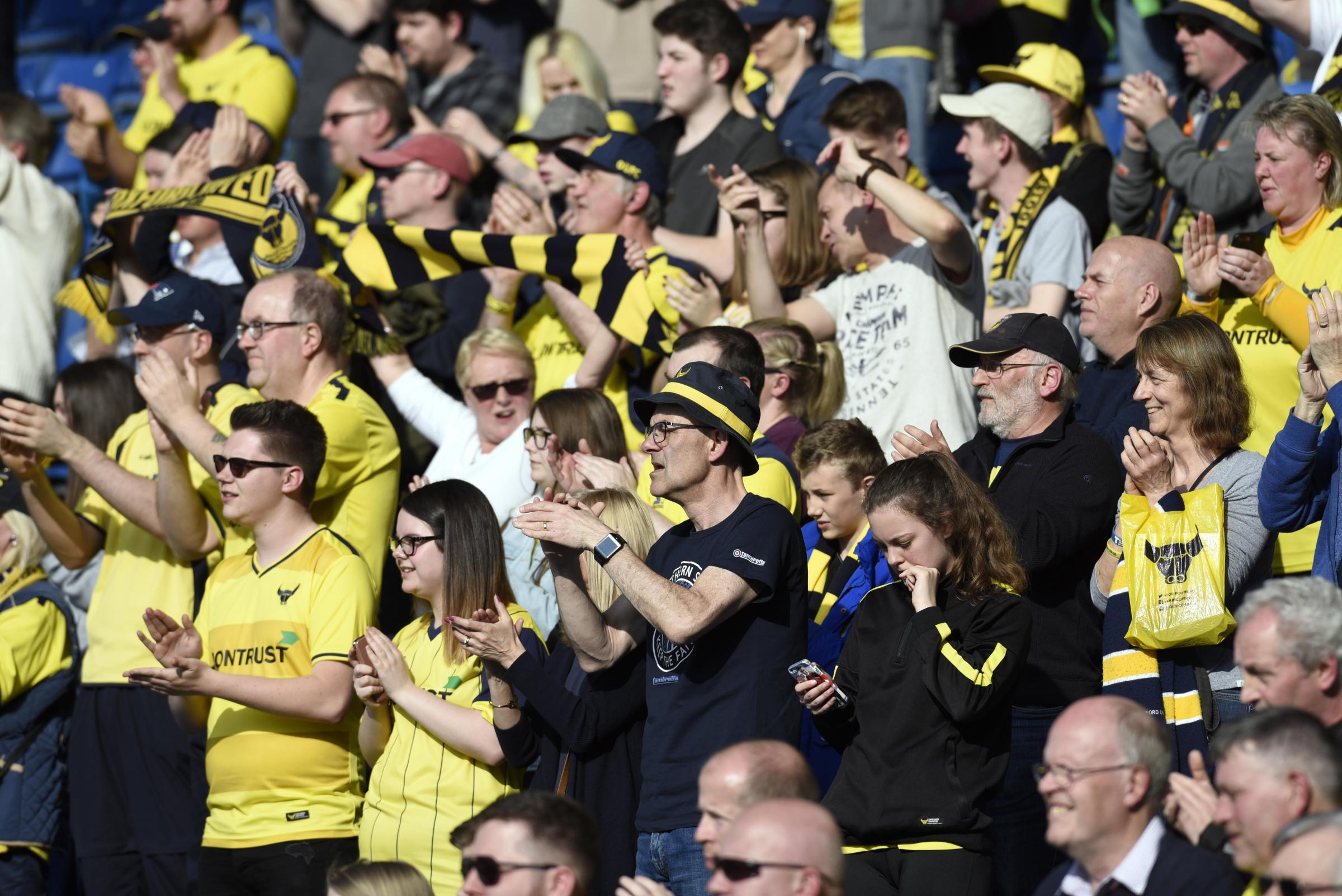 Oxford United supporters watch the win over Southend United on Saturday  Picture: David Fleming